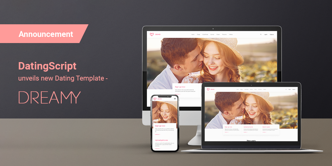 DatingScript unveils new Dating Template – Dreamy